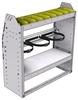 "37-3336-2 Profiled back refrigerant bin unit 34.5""Wide x 13.5""Deep x 36""High with 1 shelf"