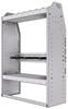 "37-3348-2 Profiled back refrigerant bin unit 34.5""Wide x 13.5""Deep x 48""High with 1 shelf"