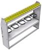 "37-6348-2 Profiled back refrigerant bin unit 67""Wide x 13.5""Deep x 48""High with 1 shelf"