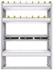 """36-3348-3 Square back refrigerant bin unit 34.5""""Wide x 13.5""""Deep x 48""""High with 3 shelves"""
