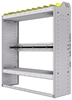 """36-4348-2 Square back refrigerant bin unit 43""""Wide x 13.5""""Deep x 48""""High with 2 shelves"""