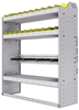 """36-4348-3 Square back refrigerant bin unit 43""""Wide x 13.5""""Deep x 48""""High with 3 shelves"""