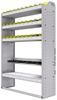 """36-4363-4 Square back refrigerant bin unit 43""""Wide x 13.5""""Deep x 63""""High with 4 shelves"""