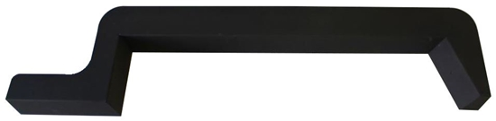 """31-FT10-31 Black side sill for a Ford Transit 130"""" Wheelbase"""