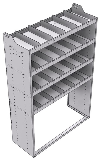 "20-4872-4 Square back shelf unit 48""Wide x 18.5""Deep x 72""High with 4 shelves"