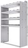 "20-4872-4 Square back shelf unit 48""Wide x 18.5""Deep x 72""High with 4 shelves"