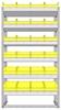 "22-3563-6 Square back bin shelf unit 34.5""Wide x 15.5""Deep x 63""High with 6 shelves"