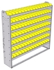 "22-6363-7 Square back bin shelf unit 69.125""Wide x 13.5""Deep x 63""High with 7 shelves"