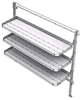 "26-7072-03 3 level fold-up shelving unit, 77""Wide x 21""Deep x 72""High"