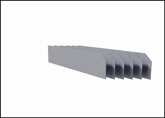 DV-621 6 narrow shelf dividers
