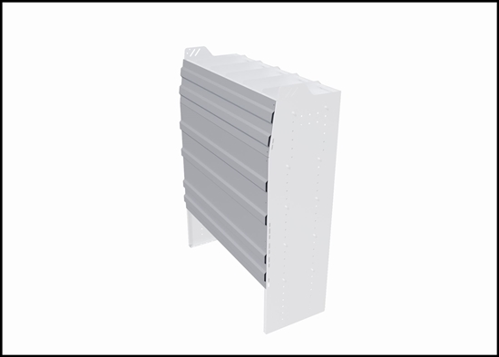 """PRB-663 Back panel package 69.125""""Wide x 63""""High for profiled back bin or combo shelving unit"""