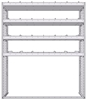 "20-6872-4 Square back shelf unit 60""Wide x 18.5""Deep x 72""High with 4 shelves"