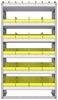 "23-3563-6 Profiled back bin shelf unit 34.5""Wide x 15.5""Deep x 63""High with 6 shelves"