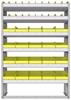 "23-4563-6 Profiled back bin shelf unit 43""Wide x 15.5""Deep x 63""High with 6 shelves"