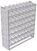 "24-6872-7 Square back bin separator combo shelf unit 69.125""Wide x 18.5""Deep x 72""High with 7 shelves"