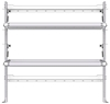 "26-6063-20 2 level fold-up shelving unit, 63""Wide x 18""Deep x 63""High"