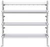 "26-6063-30 3 level fold-up shelving unit, 63""Wide x 18""Deep x 63""High"
