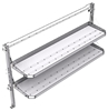 "26-7048-20 2 level fold-up shelving unit, 77""Wide x 18""Deep x 48""High"