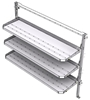 "26-7063-03 3 level fold-up shelving unit, 77""Wide x 21""Deep x 63""High"