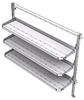 "26-7063-30 3 level fold-up shelving unit, 77""Wide x 18""Deep x 63""High"