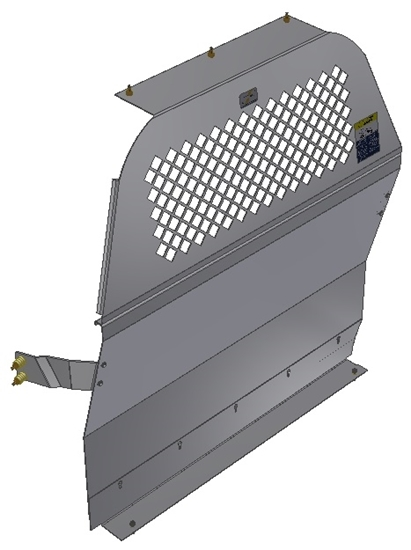 10-CC01-122 Mesh Contoured Partition for Chevrolet City Express Std. Roof