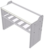 """18-5836-1W Workbench 48""""Wide x 18.5""""Deep x 36""""high with 1 standard divider shelf and a 1.5"""" thick hardwood worktop"""