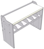 """18-5836-3W Workbench 48""""Wide x 18.5""""Deep x 36""""high with 1 high divider shelf and a 1.5"""" thick hardwood worktop"""