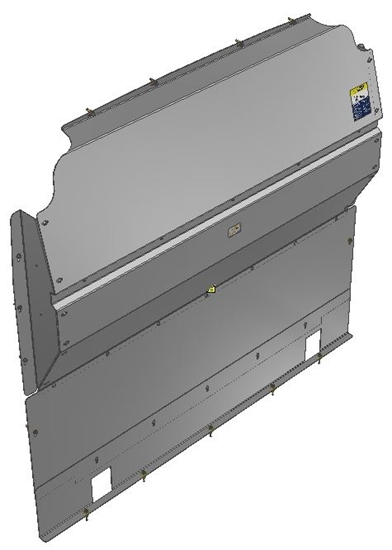 10-RP00-121 Solid Contoured Partition for Ram Promaster