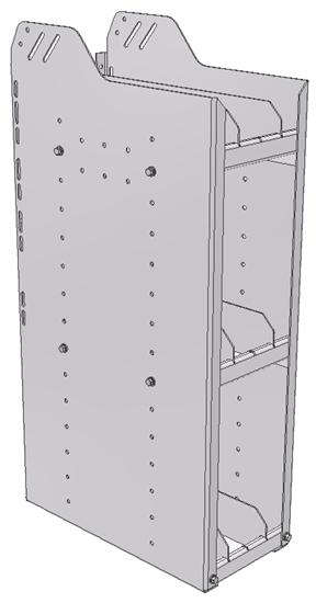 "28-9836-3 Square Back Bookshelf, 9""Wide x 18.5""Deep x 36""High with 3 shelves"