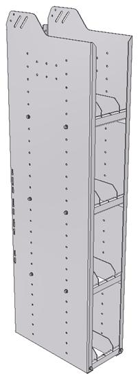"28-9858-4 Square Back Bookshelf, 9""Wide x 18.5""Deep x 58""High with 4 shelves"