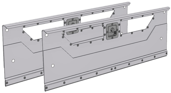 "DO-184 2-set Locking door kit for 84""Wide shelving unit"