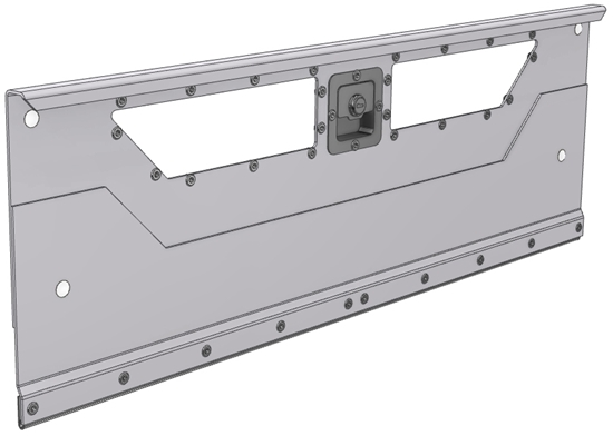 "DO-670 Locking door for 69.125""Wide bin shelving unit or combo shelving unit"