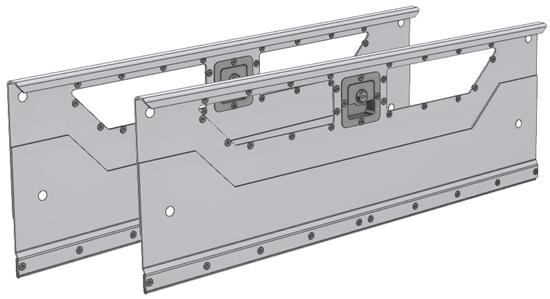 "DO-840 2-set Locking door kit for 86.375""Wide bin shelving unit or combo shelving unit"