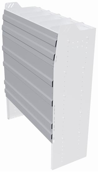 "BBP-148 Back panel package 11""Wide x 48""High for profiled back Bookshelf unit"