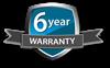 6 years warranty